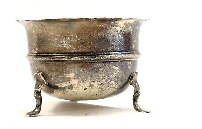 Vintage SILVER Hallmarked Footed SUGAR BOWL Robert Pringle, Chester, 1924 - A33