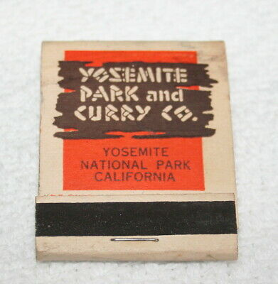 VINTAGE MATCHBOOK ~~  YOSEMITE PARK and CURRY CO., Yosemite, California
