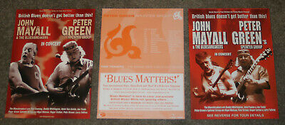 Peter Green Splinter Group Fleetwood Mac - lot of three (3) concert tour flyers