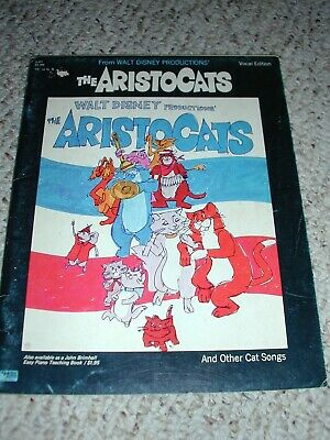 1968 Walt Disney The Aristocats Vocal Song Book Photos