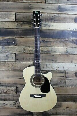 Rogue RA-090 Concert Cutaway Acoustic-Electric Guitar- Natural #R1627