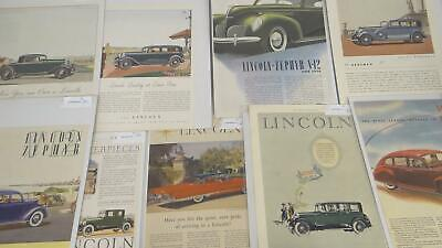 Lot 8 Lincoln 1930s Magazine Advertising Ladies Home Journal Illustrations
