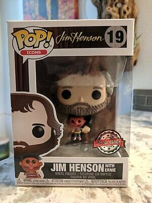 Funko Pop Icons #19 Jim Henson w/Ernie Exclusive *In Hand ships Next Day*
