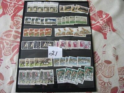 BULK LOT OF 3 PAGES of USED AUST. STAMPS. LOT 21.  ALL OFF PAPER. BARGAIN BUY.