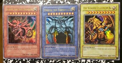 GBI-001-002-003 God Cards Ultra Rare Obelisk Winged Ra Slifer Sky Dragon yugioh