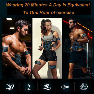 Electric Muscle EMS Machine Wireless Toning Belt 6 Six Pack Abs Fat Burner USA