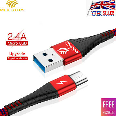 2.4A Micro Usb Data Fast Charging Cable Sync Data For Android Samsung Galaxy