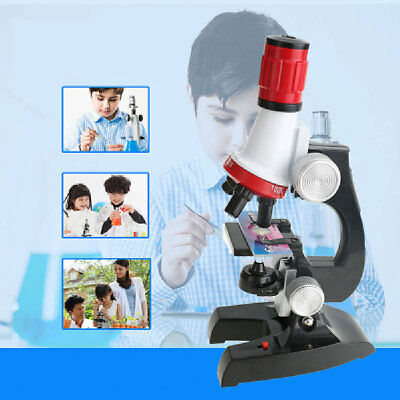 Science Microscope Kit for Kids100x 400x 1200x Refined Educational Lab Toy Set