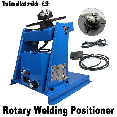 110V 50HZ 2-20 r/min Lightweight Rotary Welding Positioner Turntable Table New A