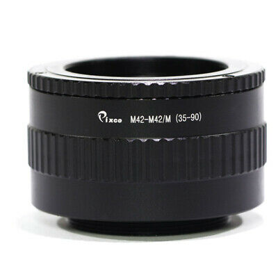 M42 to M42 Lens Adjustable Focusing Helicoid Macro Tube Adapter - 35mm to 90mm