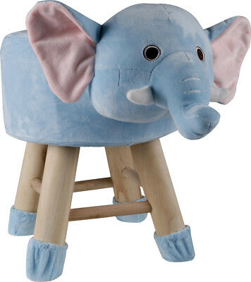 Kids Blue Elephant Face Stool