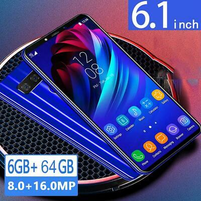 S10 Unlocked Android 9.1 Smartphone Octa Core Cell Phone 4GB+64GB 8MP+16MP 6.1""