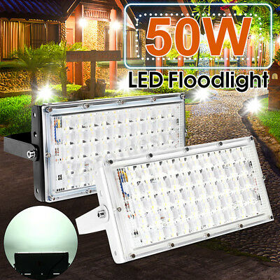 2X 50W LED Flood Light Outdoor Super Bright Garden Landscape Yard Spot Light ES