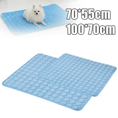 Pet Dog Cat Cooling Mat Non-Toxic Puppy Indoor Summer Chilly Bed Pad Cushion NEW
