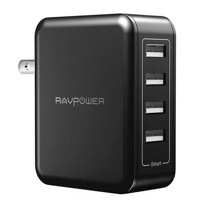 RAVPower USB Wall Charger 40W 8A 4-Port Multi-Port Travel Charging Station,...