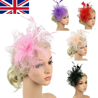 Ladies' Day Fascinator Hat Cocktail Tea Party Headband Women Wedding Hair Clip