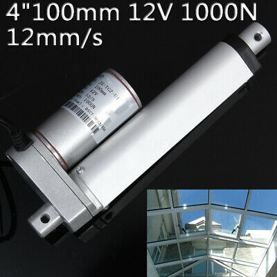 4'' 100mm DC 12V Electric Stroke Linear Actuator Motor 1000N 225lb Heavy Duty