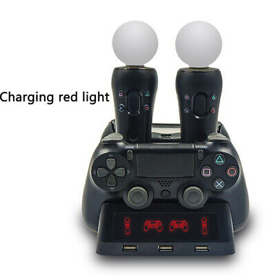 For PS4 MOVE Dual Controller Charger/Charging Dock Station/Stand Gamepad