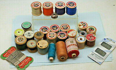 25 x assorted reels of cotton sewing threads Sylko Coats Needles & more