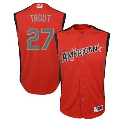 Majestic Mike Trout American League Youth Red 2019 MLB All-Star Game Player