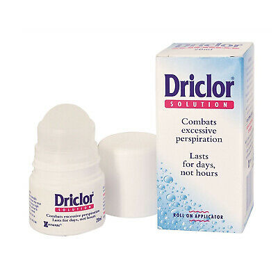 Driclor Solution Roll On Applicator Combats Excessive Perspiration - 20ml