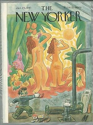 NEW YORKER magazine COVER ONLY January 25 1947 Julian De Miskey, artist painting