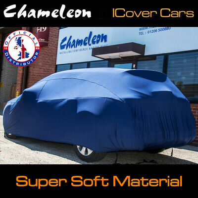 Premium 160gsm Indoor Car Cover BLUE Super Soft breathable fabric SMALL