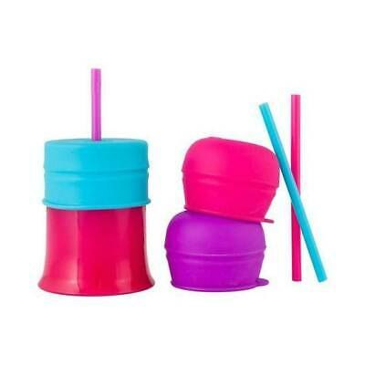 Boon - Snug Straw with Cup - Pink Multi
