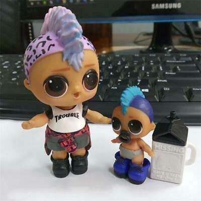 Rare 2X LOL Surprise Big Punk Boi BOY & lil boy Confetti Pop doll - Color Change