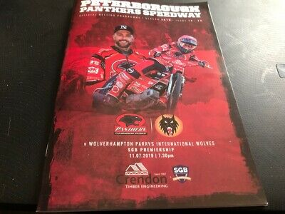 Peterborough Panthers V Wolverhampton Wolves--Programme--11Th July 2019