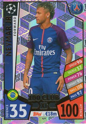 Match Attax Champions League 2017/18 Limited Edition 100 Club Trading Cards