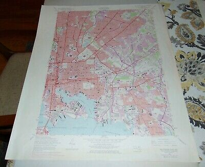 1974 BALTIMORE EAST MD Map GEOLOGICAL SURVEY #16
