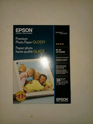 """EPSON""- Premium Photo Paper/Glossy/20 sheets- 5""X 7""/Ink Jet/S041464"