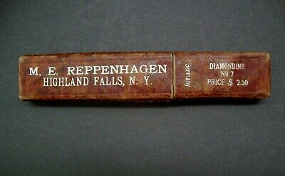 Antique M.E. Reppenhagen  Straight Razor Diamonde No. 7 In Original Box Germany