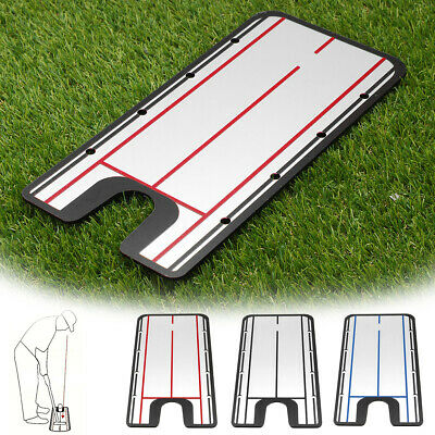 Golf Putting Mirror Alignment Training Swing Practice Tool Eye Line Trainer