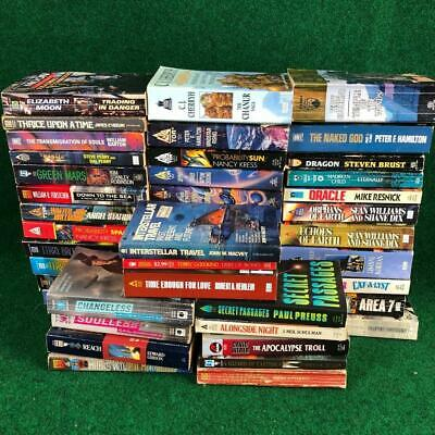 MM Science Fiction Fantasy Sci-Fi Paperback Book Lot of 47