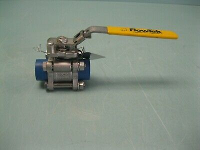 "1/2"" Flow-Tek 1000# WOG Socket Weld SS Series 7000 V-Ball Valve NEW H19 (2469)"
