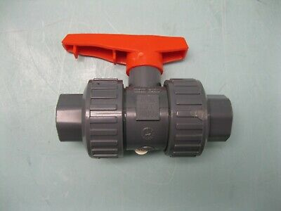 "3/4"" Nibco Chemtrol Socket End PVC Ball Valve NEW L17 (2435)"