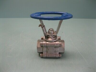 "1"" Velan 2000# WOG Socket Weld SS 3-Piece Ball Valve NEW P22 (2457)"
