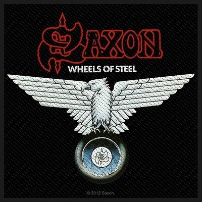SAXON  - Wheels of steel Patch Aufnäher 10x9cm