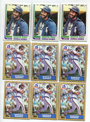 Harold Baines Hall of Fame HOF baseball card lot of 19 1982-1991 w/ some duplic.