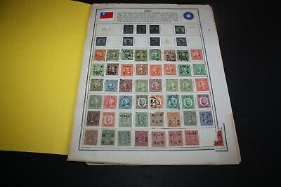 CHINA LOT of 250 +  Stamps on Battered Album Pages