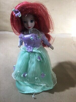 "Brass Key Disney Princess 7"" Porcelain Little Mermaid Ariel Doll Blossom Dress"