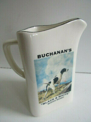 Rare Buchanans Black And White  Scotch Whisky (Gun Dog) Water Jug Unused