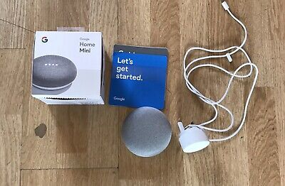 Google home mini chalk Boxed With Instructions