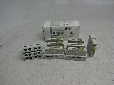 Siemens 3RV1901-1E Qty 10 Auxiliary Contact Switch Block 1NO+1NC