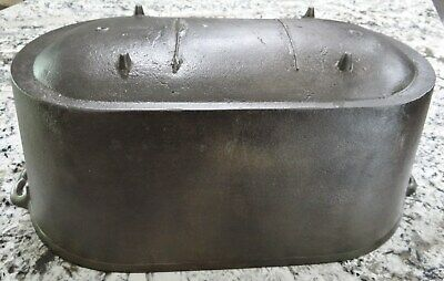 Large Cast Iron Oval Footed Cauldron Kettle Scaulding Pot Fish Fryer Antique