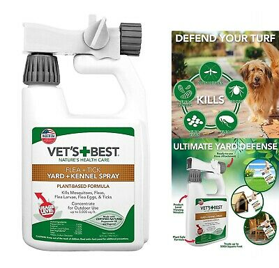 Flea Tick Mosquito Yard And Kennel Spray For Outdoor Dog Vets Best Treatment New