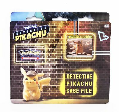 Pokemon Detective Pikachu Case File w/ 3 Booster Packs, Promo Card, and Coin