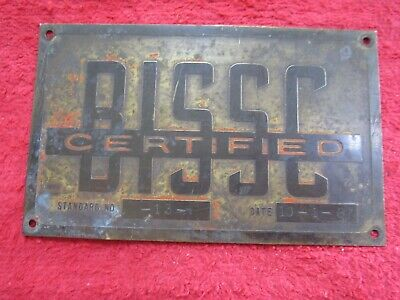 Price CO NOS //// Unused Vintage Embossed Brass Nameplate G.E
